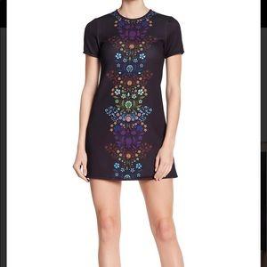 Cynthia rowley floral print mini dress